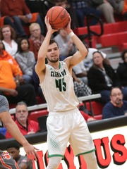 Clear Fork's Chance Barnett moves the ball during a sectional game against Mansfield Senior at Bucyrus High School on Friday night.