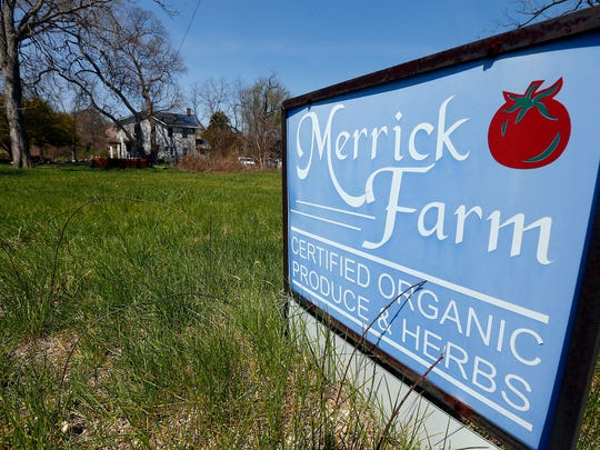 A sign outside Merrick Farm in Howell.