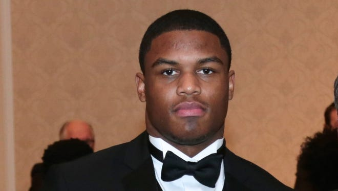 Josh Ross of Orchard Lake St. Mary's poses for a photo during the 2015 Detroit Free Press Football Awards Banquet on Dec. 13, 2015, in Dearborn.