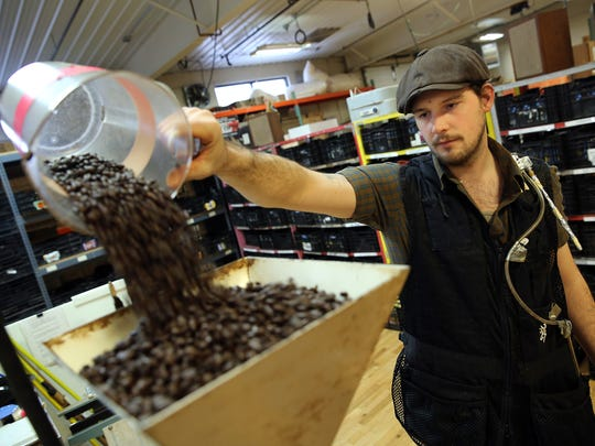 Benjamin Lisser of Just Coffee Cooperative in Madison,