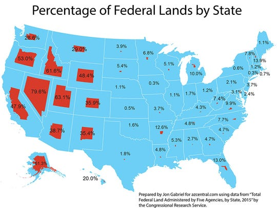 Federal lands by state
