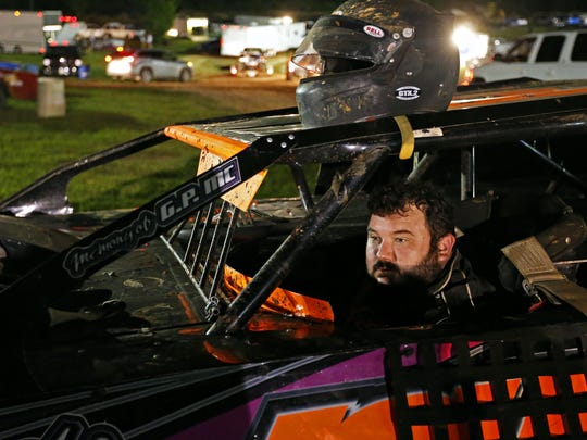 After failing to take advantage of a front position start in a feature race in which he finished 10th, Mickey Burrell had to take a couple of silent minutes in his car to shake the disappointment.