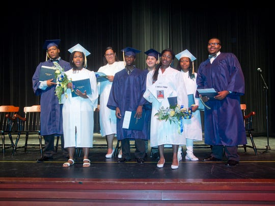 Graduating this summer from Seaford are (from left) Khiry Deshields, Da'Jah Cannon, Stephanie Dixon, Marcus Pitts, Jason Ramirez, Twayna Smack, Irissa, Smith and Zion Williams. Not pictured is Myeisha Waples.