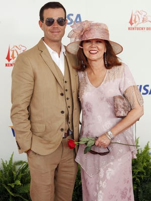 Carson Daly and his mother Pattie Daly Caruso arrive at the 134th Kentucky Derby at Churchill Downs in Louisville in 2008.