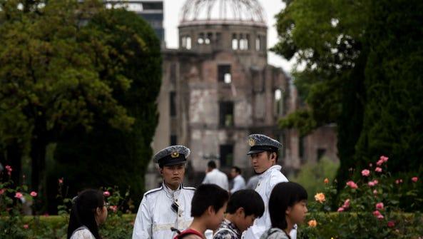 The Hiroshima Peace Memorial in Japan.