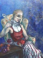 "The ""Dark Art 10"" exhibit features spooky images such"