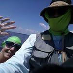 Photos: Pensacola frogman swims 20 miles along Santa Rosa Sound