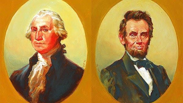 North Carolina artist Chas Fagan's portraits of the American presidents will be on display through Feb. 14 at Valley West Mall.