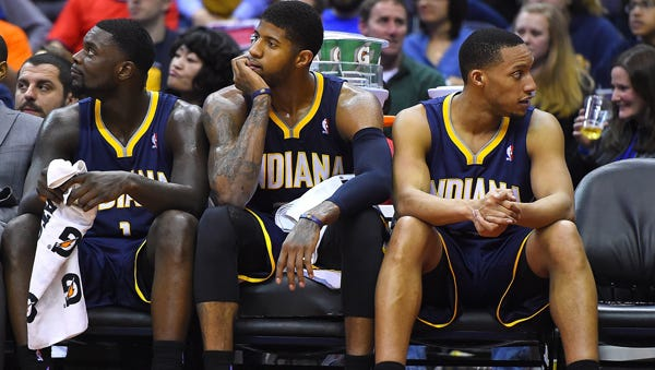 Evan Turner arrived to Indiana with the expectations to shore up the bench, but remained benched in the end.
