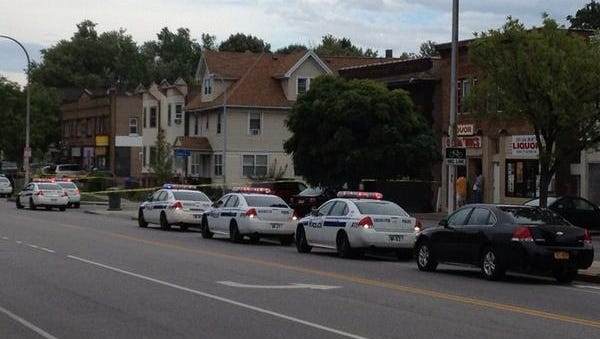 Rochester police investigate a shooting on Dewey Avenue near Electric Avenue.