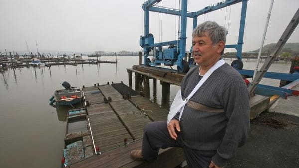Suren Kilerciyan, owner of Cornetta's Marina in Piermont, photographed May 8, 2014. Kilerciyan circulated a petition among boaters, marina owners and advocates who want Tappan Zee Constructors to dredge a passage from Piermont to the main channel of the Hudson. They say it's virtually impossible to get boats out during low tide because of the amount of silt in that area.