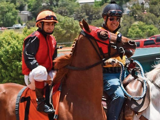 Jockey Sal Martinez has become the top rider for quarter horses at Ruidoso Downs this season.