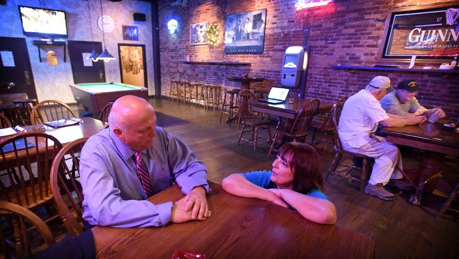Lebanon County Democrats gathered at the Downtown Lounge to watch the returns from local and national primary elections. Jake Long, candidate for the 102, and Lorraine Scudder, candidate for the 101, both ran unopposed.