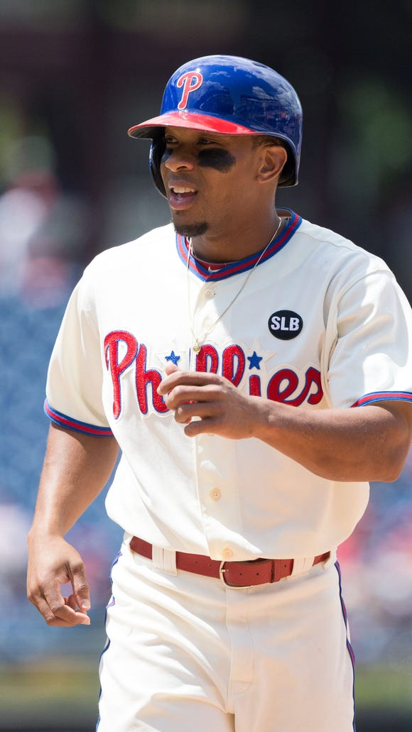Phillies left fielder Ben Revere in a game July 22 against the Tampa Bay Rays at Citizens Bank Park.