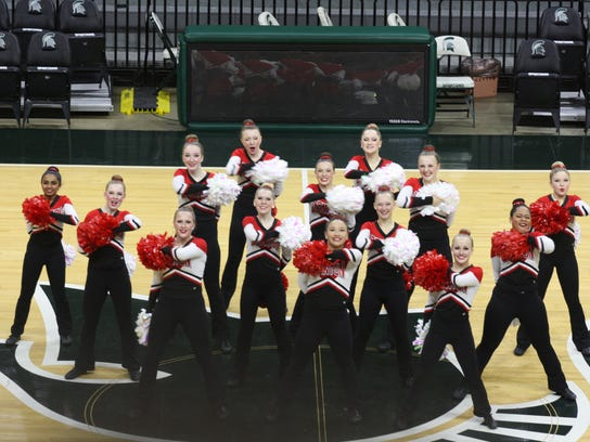 Performing part of their championship routine is Canton's