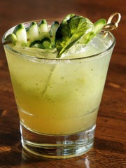 The Gin Mill cocktail from Maribelle's, includes  gin, cucumber, lemon basil and ginger beer