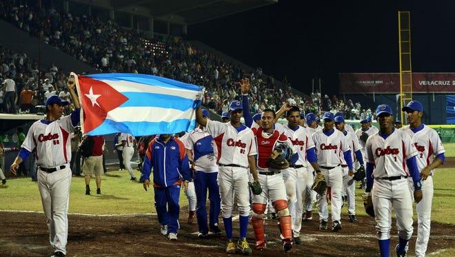The Cuban national baseball team.