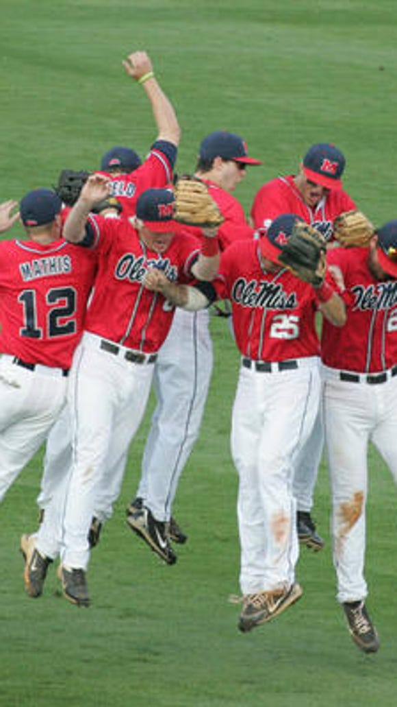Ole Miss baseball beat No. 1 Florida in the first game of a doubleheader on Saturday.