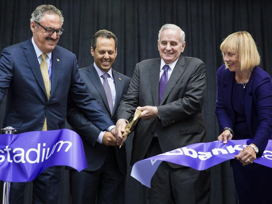 From left to right, Minnesota Vikings co-owners Zygi