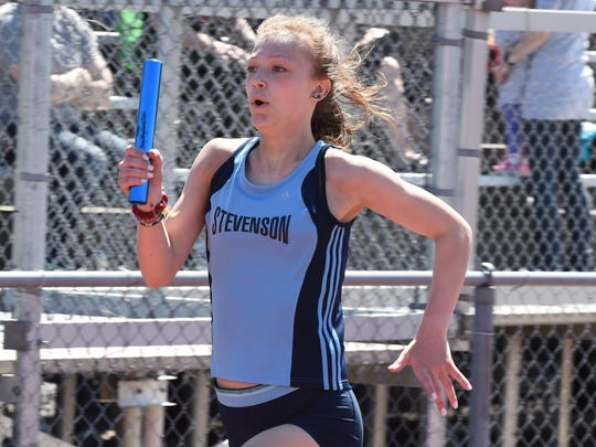 Girls track and field standouts like Stevenson's Hope