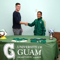 Kyle Legozzie signs with Tritons soccer team
