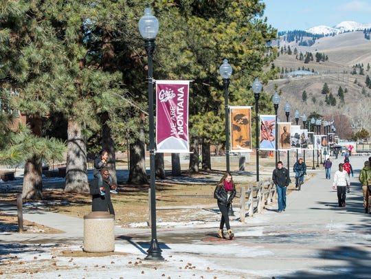 Memorial Row at the University of Montana.