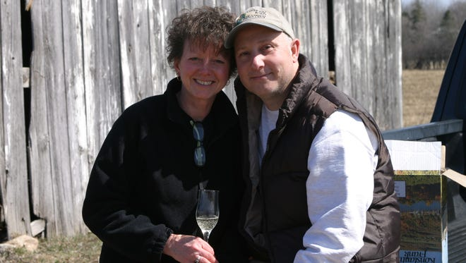 John and Lorraine Izzo own Izzo's White Barn Winery in Cayuga, Cayuga County. The winery produces roughly 500 cases a year.