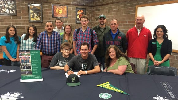 Madison's Geoff Gerber has signed to play college baseball for Piedmont (Ga.).