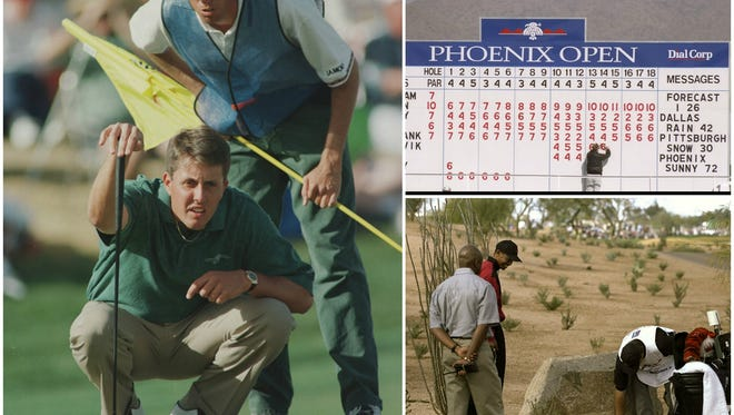 Phil Mickelson and Tiger Woods produced some of the  most memorable moments at the Phoenix Open at the TPC Scottsdale.
