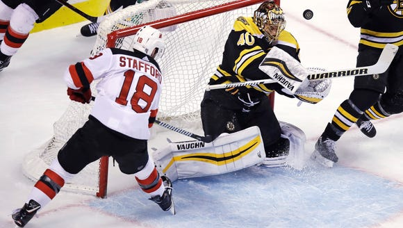 Boston Bruins goaltender Tuukka Rask (40) makes a save