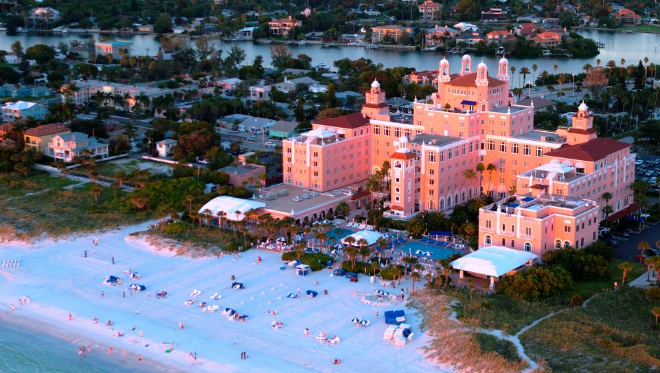 An aerial view of the Loews Don CeSar Hotel in St.