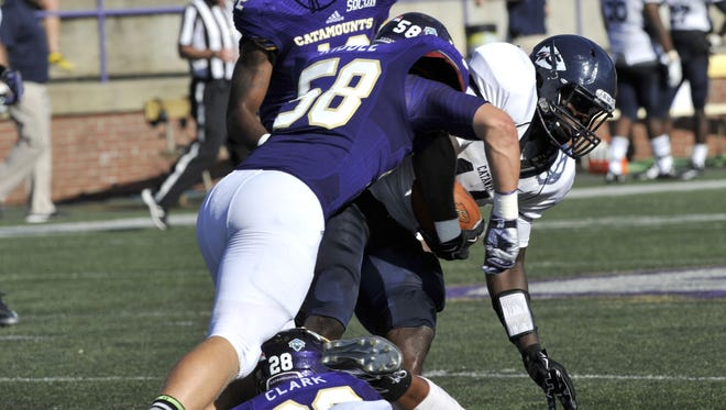 Daniel Riddle finished the season with 129 tackles for Western Carolina.