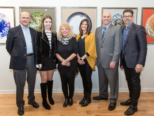 (from L to R) 70 South Gallery Owner, Ted Baldanzi,
