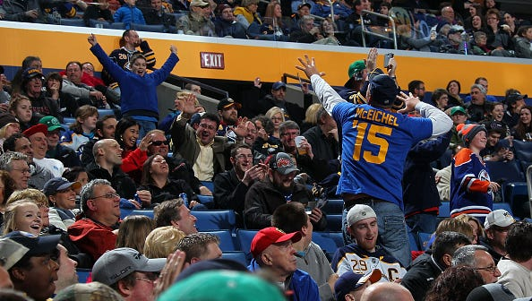 of the Buffalo Sabres of the Arizona Coyotes on March 26, 2015 at the First Niagara Center in Buffalo, New York.