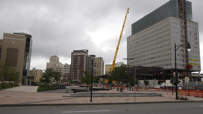 A view of the Midtown site in early August.