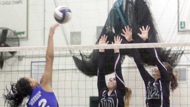 Yorktown defeated Hendrick Hudson in four games in a varsity volleyball match at Yorktown High School Oct. 13, 2016.