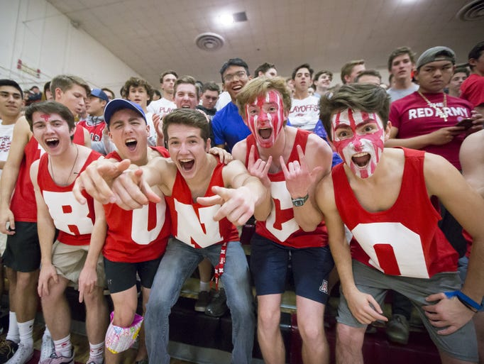 Brophy College Prep students during the 6A state tournament