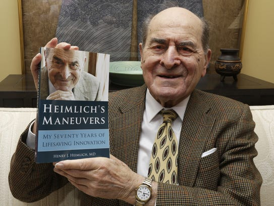 In this Feb. 5, 2014, file photo, Dr. Henry Heimlich