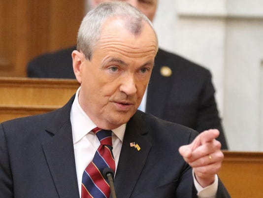Governor Phil Murphy presents his budget as he addresses the New Jersey legislature.
