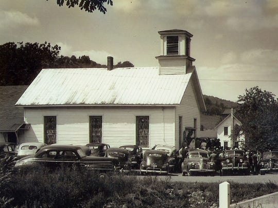 In 1949, the church was known as Owego Free Will Baptist Church and occupied its second building, which lasted from 1865 to 1965.