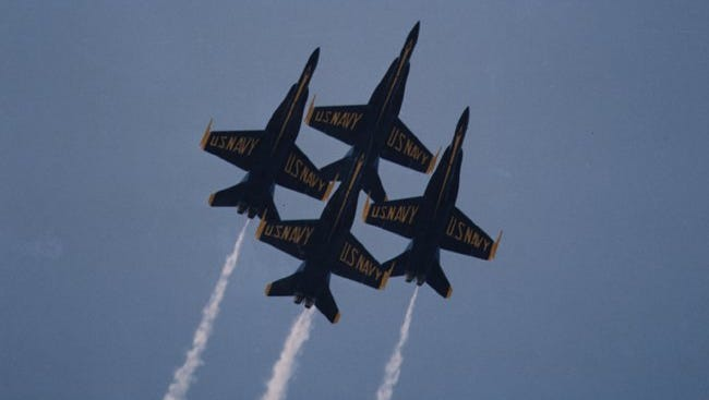 U.S. Navy Blue Angels flight demonstration team will be at the air races Sept. 17-18, 2016.