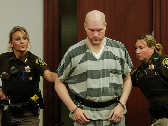 Grant Taylor enters the courtroom of Circuit Court