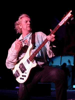 Chris Squire, bass player and founding member of the musical group Yes, performs at a concert in 2008. The bass player and co-founder of the group has been diagnosed with leukemia and will miss a planned summer tour.