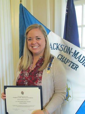 Ashley Faulkner, Jackson-Madison DAR's 2017 Outstanding Junior Member