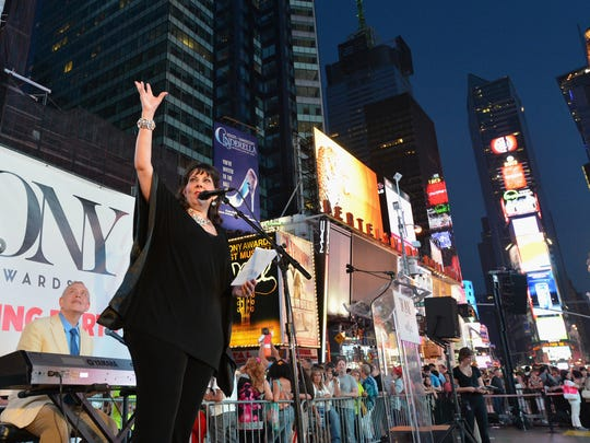 Christine Pedi performs at the 2013 Tony Awards Times Square Simulcast on June 9, 2013 in New York City.