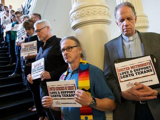 The Rev. Tom Vande Stadt, left, and the Rev. John Elford,