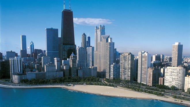 Chicago boasts an impressive lakefront skyline.
