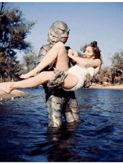"Julie Adams gets carried away in the classic ""Creature From the Black Lagoon."""