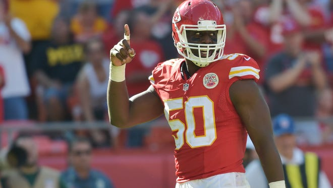 Chiefs OLB Justin Houston is the NFL's sack leader through Week 8.