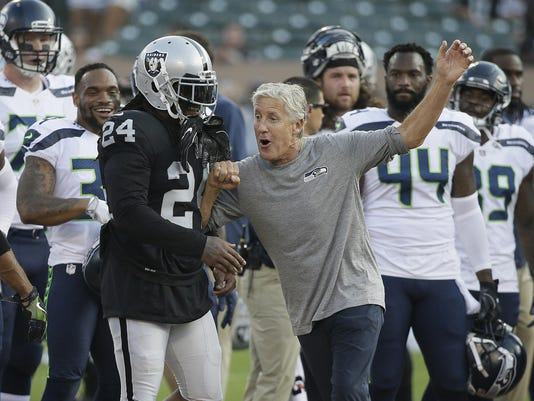 Marshawn Lynch, Pete Carroll